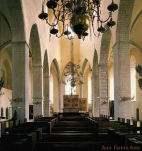 Niguliste kiriku kontserdisaal.