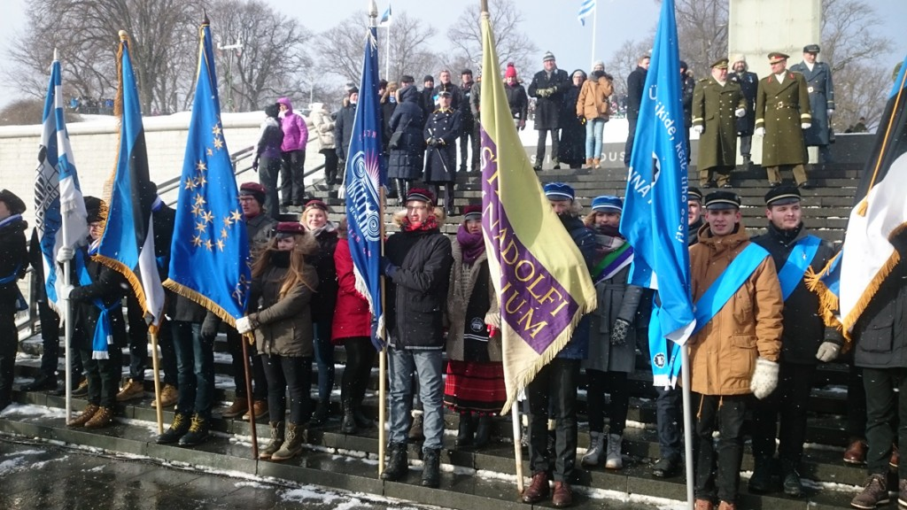 Noored Eesti Vabariigi sajanda aastapäeva paraadil Tallinnas Foto erakogu