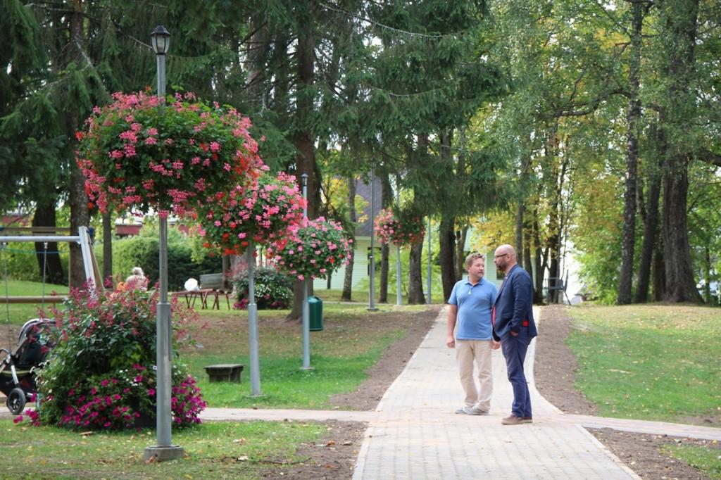 Otepää Kultuurimaja park. Foto Otepää vallavalitsus