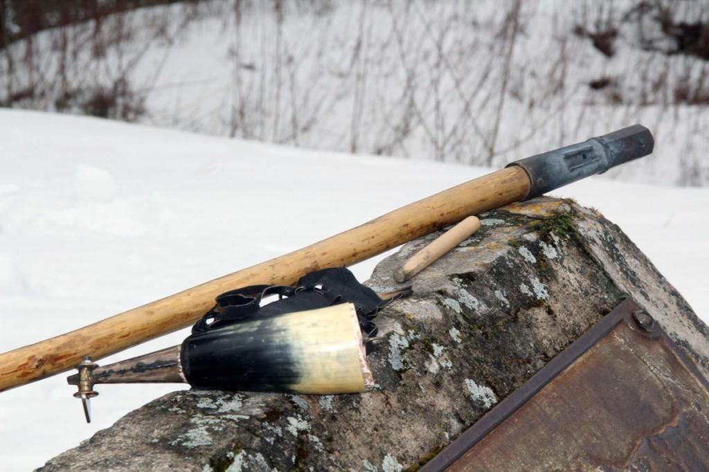 Otepää püss on 14 sajandi lõpul hävinud Otepää linnuse ühest ruumist leitud algeline püss, üks Eesti vanimaid tulirelvi Foto Monika Otrokova