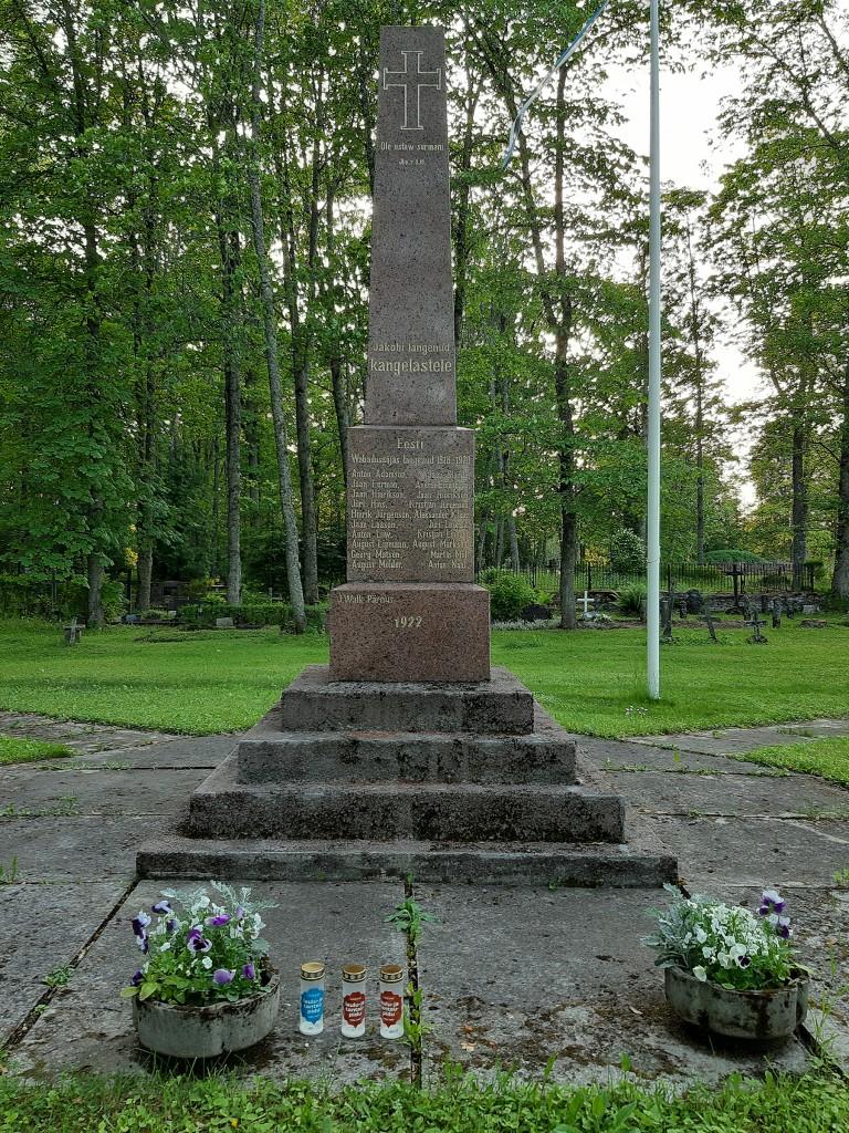 Pärnu-Jaagupi Vabadussõja mälestussammas. Foto Margo Sai