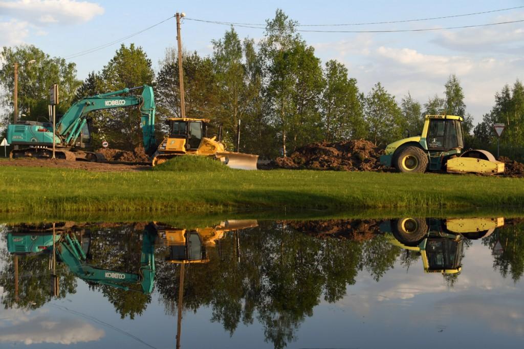 Pärnu-Tori maantee rekonstrueerimine Sindi linna piires Foto Urmas Saard