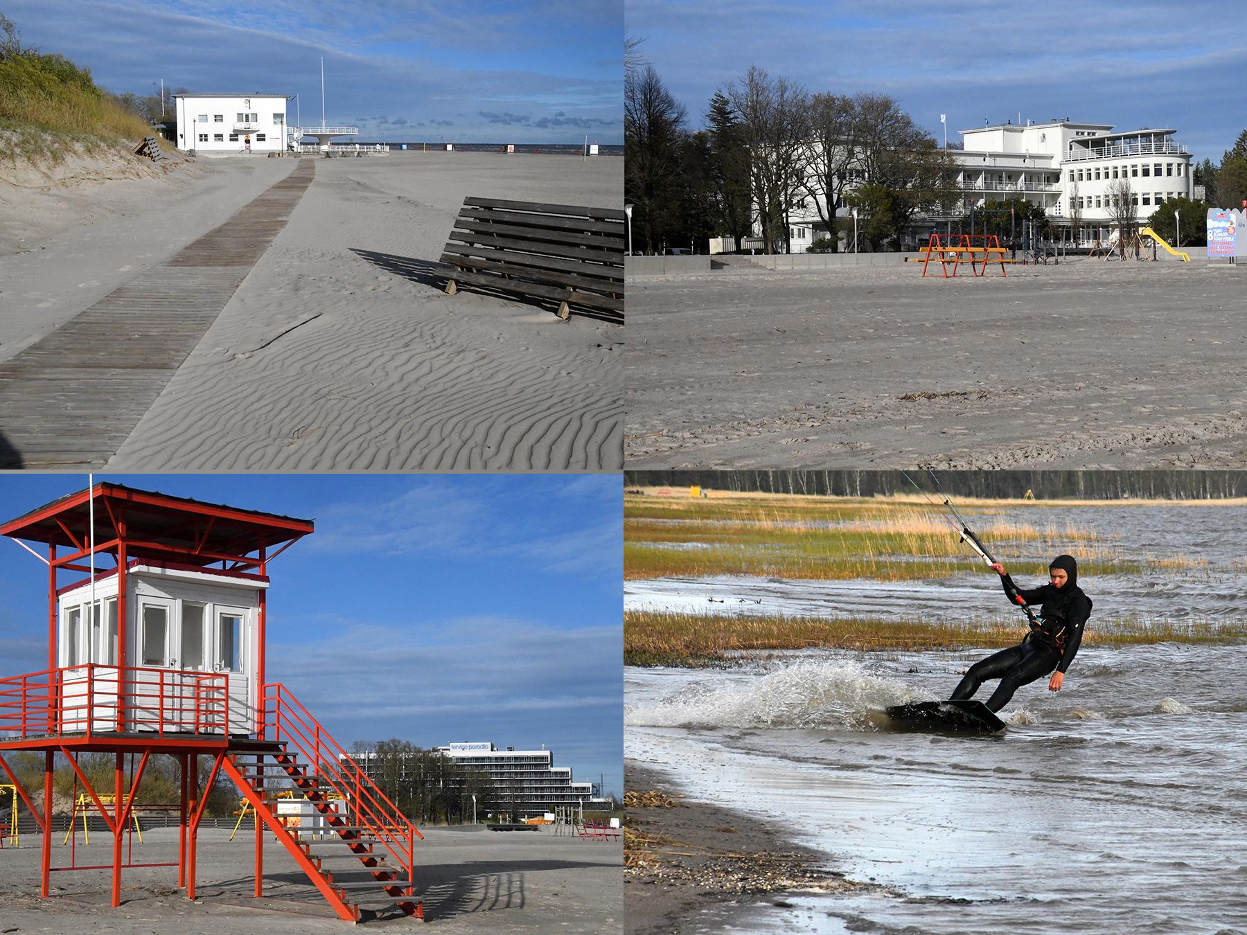 Pärnu rand hooaja ootel. Foto: Urmas Saard  / Külauudised
