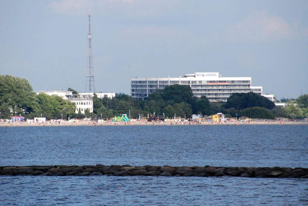 Pärnu rand ja Tervise Paradiis. Foto Urmas Saard