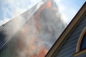 Põleng Pärnus Kuninga tänaval Foto Urmas Saard
