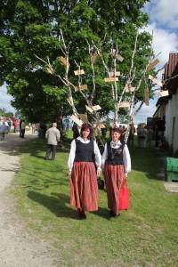"""Lustiveres toimumud Põltsamaa valla külade päeval on kasvama pandud """"külade puu"""". Foto: Jaan Lukas"""