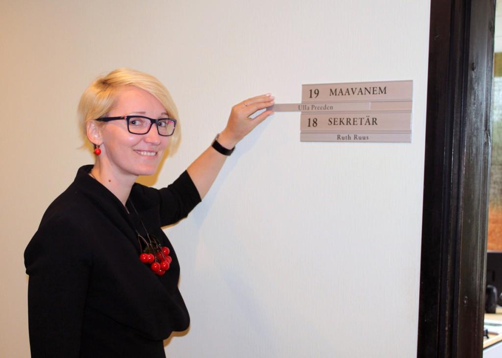 Põlva maavanema ametist lahkuv Ulla Preeden Foto pressisõnumiga