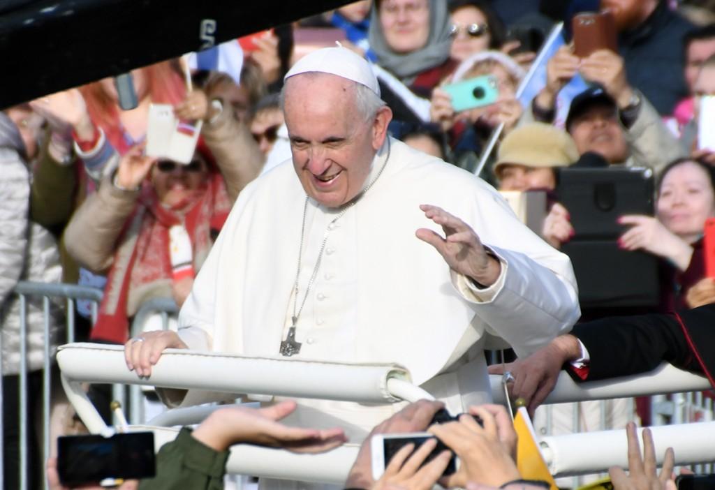 Paavst Franciscus Tallinnas Vabaduse väljakul Foto Urmas Saard