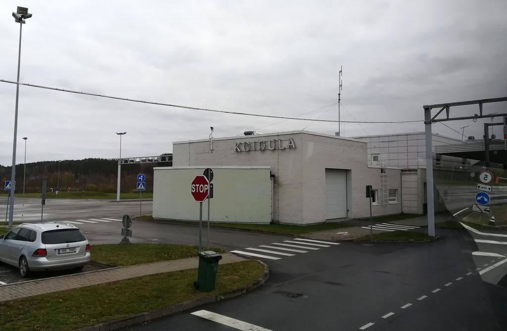 Piiripunkt Eesti ja Venemaa vahelisel ajutisel kontrolljoonel. Foto: Urmas Saard