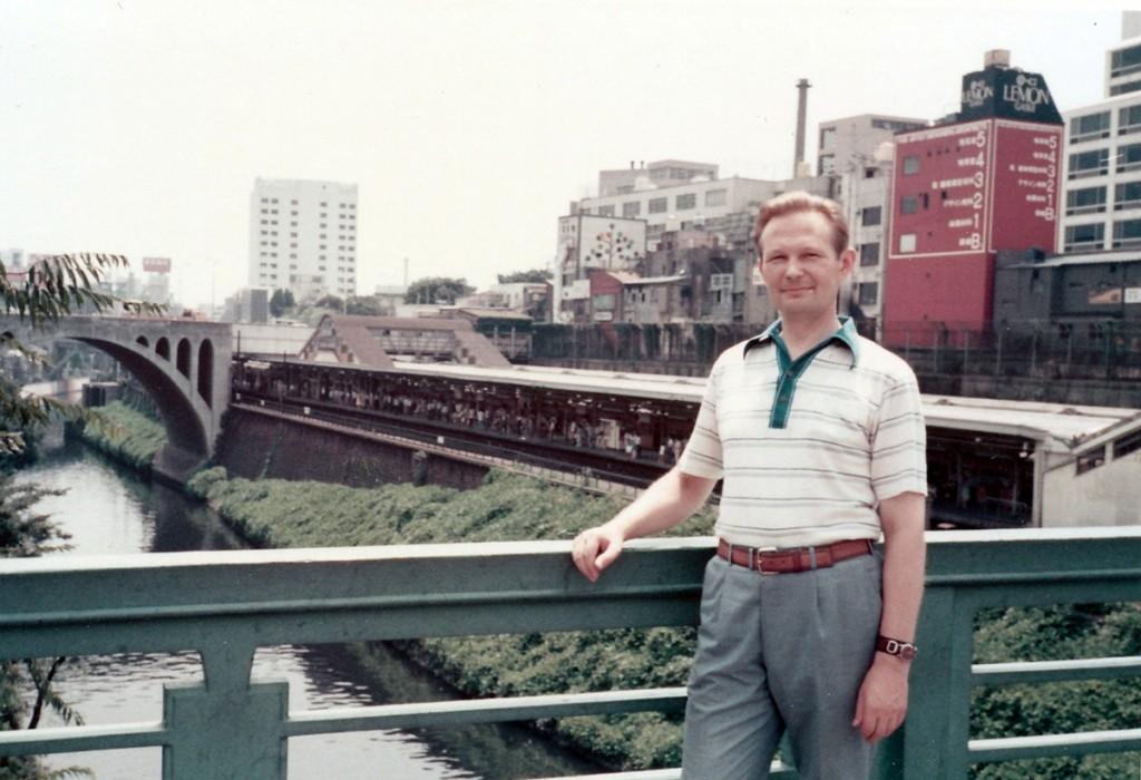Pildil Jaak Uibu 1978. aastal Tokios. Foto erakogust