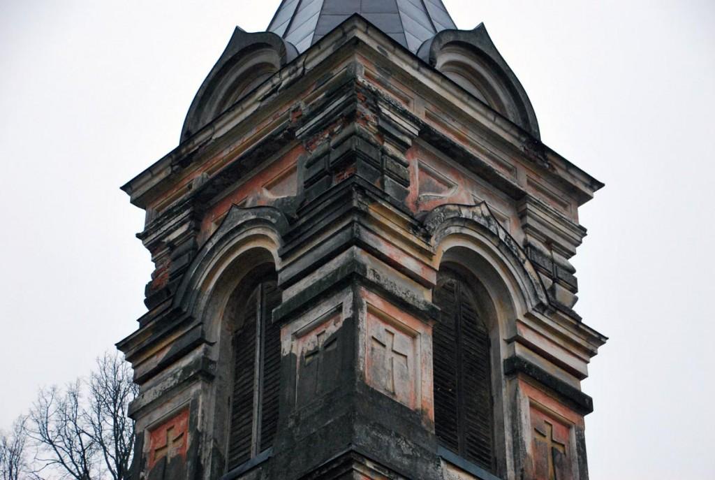 Remonti vajav Sindi Jumala ilmumise kiriku kellatorn Foto Urmas Saard