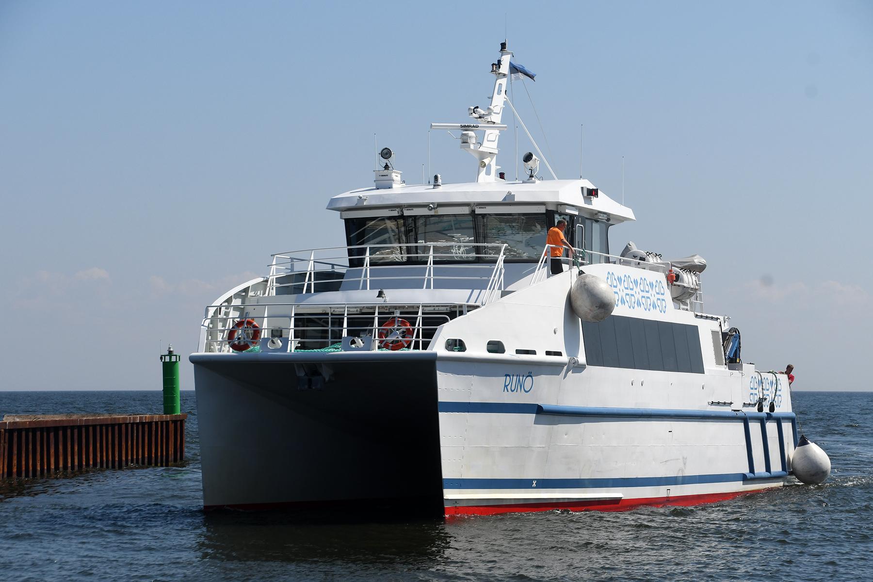 Runö Ruhnu sadamas. Foto: Urmas Saard