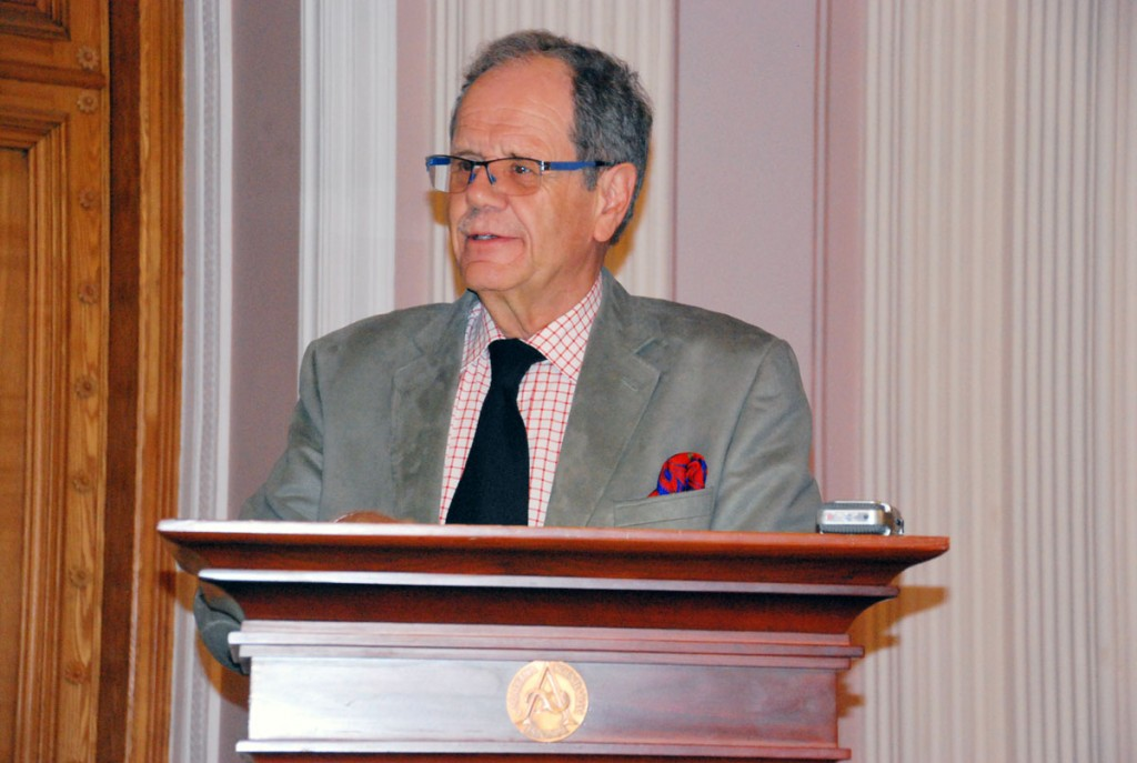 Seppo Juhani Zetterberg on Soome Jyväskylä Ülikooli üldajaloo emeriitprofessor ja Soome Akadeemia liige, kelle esinemised on olnud oodatud kõigil president Pätsile püstitatava mälestusmärgi mõttetalgutel Foto Urmas