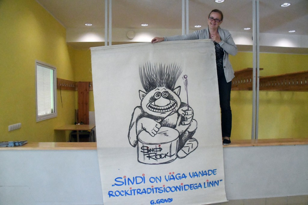 Sindi Rocki logo suurel stendil Foto Urmas Saard