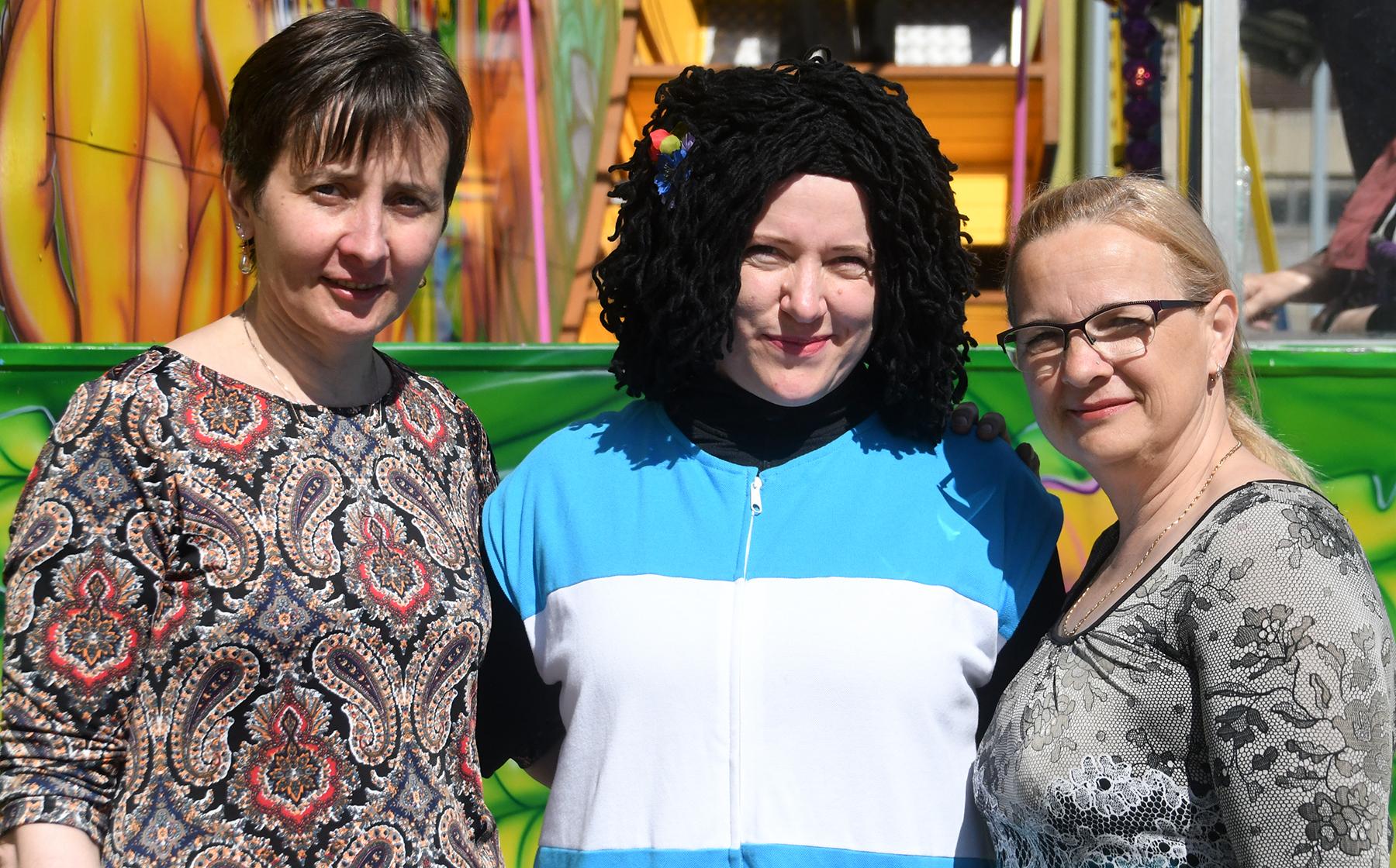 Sindi laada korraldajate kolmik Ülle Ots, Alice Laanemaa, Anneli Uustalu. Foto: Urmas Saard