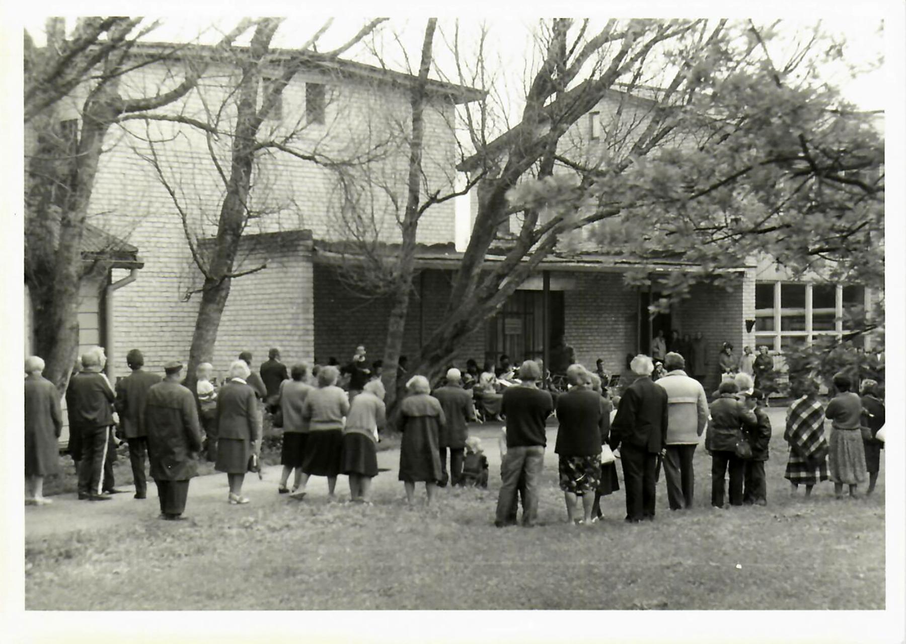 Sindi linna 50. juubeli tähistamine. Foto Sindi muuseumi arhiivist