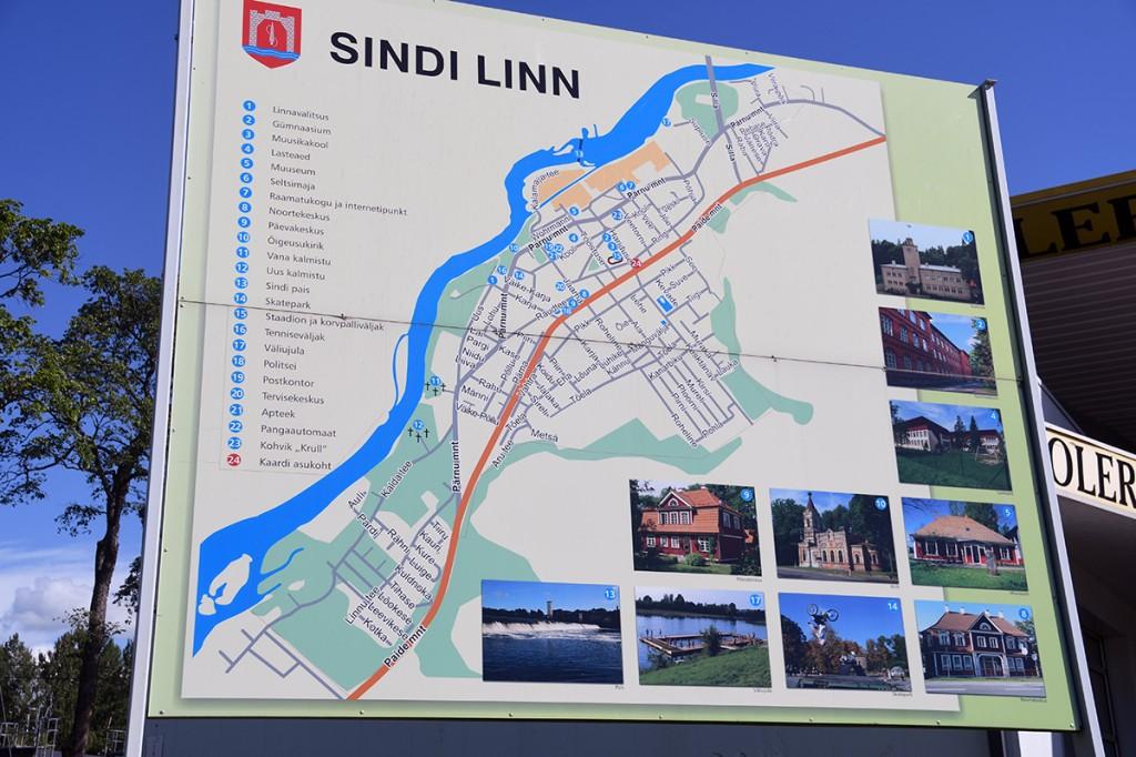 Sindi linna kaart Foto Urmas Saard