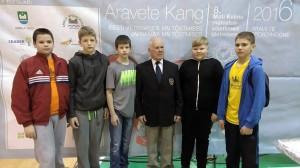 Sindi tõstjate meeskond, keskel treener Juhannes Kask Foto Marko Šorin