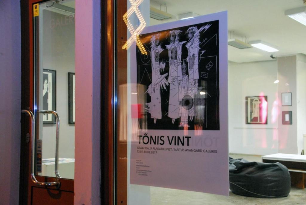 Tõnis Vindi graafikat ja plakateid näeb Pärnu Avangard Galeriis kuni 10 veebruarini Foto Urmas Saard
