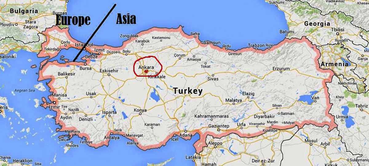 Türgi maakaart