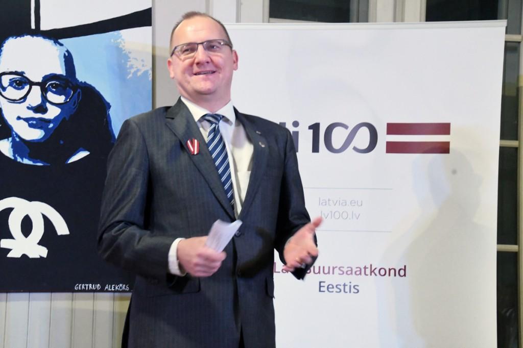 TE Raimonds Jansons, erakorraline ja täievoliline Läti suursaadik Eestis Foto Urmas Saard