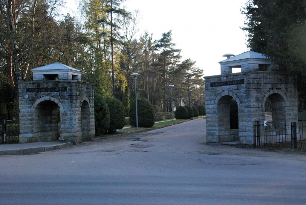Tallinna Rahumäe kalmistu peavärav. Foto Urmas Saard