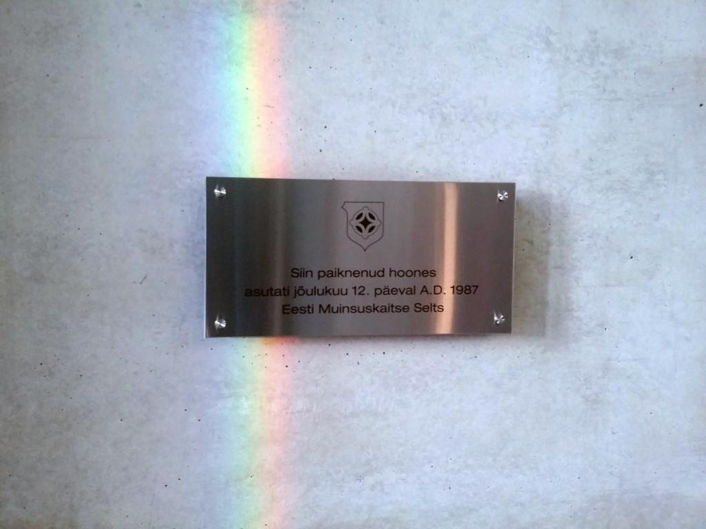 Tallinnas, Rävala 4 hoones avatud mälestustahvel