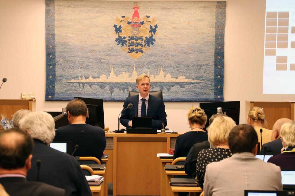 Tiit Terik, Tallinna linnavolikogu esimees. Foto Jukko Nooni