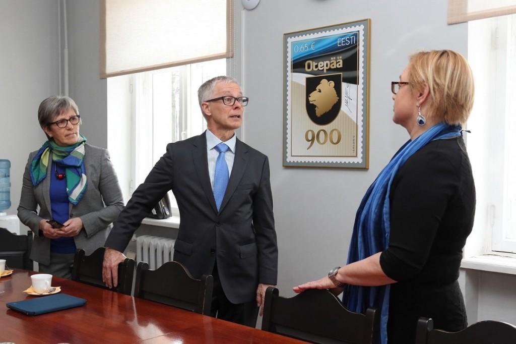 Timo Kantola, Soome suursaadik Eestis, Otepääl. Foto Valju Aloel