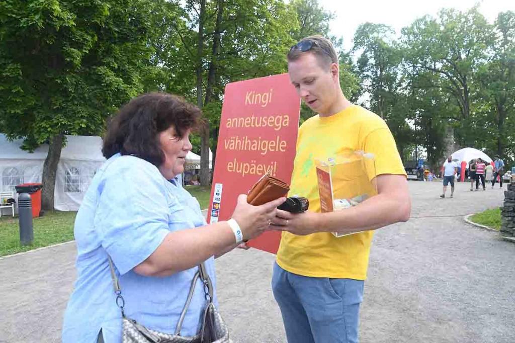 Toivo Tänavsuu, Vähiravifondi Kingitud Elu juhatuse liige, 2018. Paide Arvamusfestivalil. Foto Urmas Saard