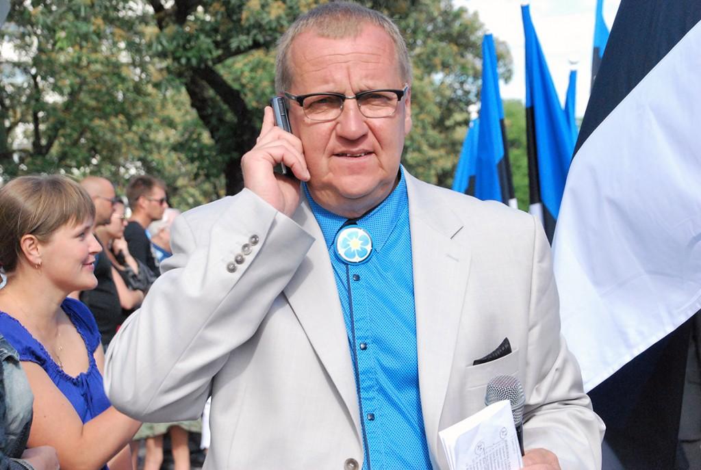 Toomas Voll 2016. a Pärnus toimunud lipu päeva tähistamisel. Foto Urmas Saard