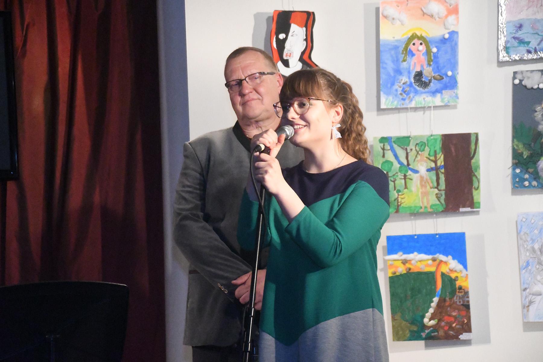 Toomas Voll ja Marta Lotta Kukk Pärnus Endla Jazzklubis. Foto Urmas Saard