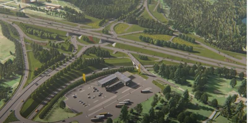 Väo liiklussõlme rajamise ala. Foto: Maanteeamet