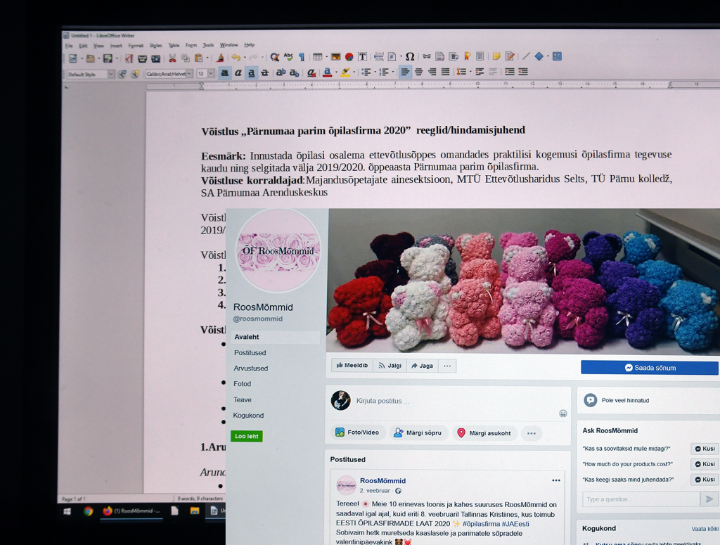 "Võistlus ""Pärnumaa parim õpilasfirma 2020"". Foto: Urmas Saard"