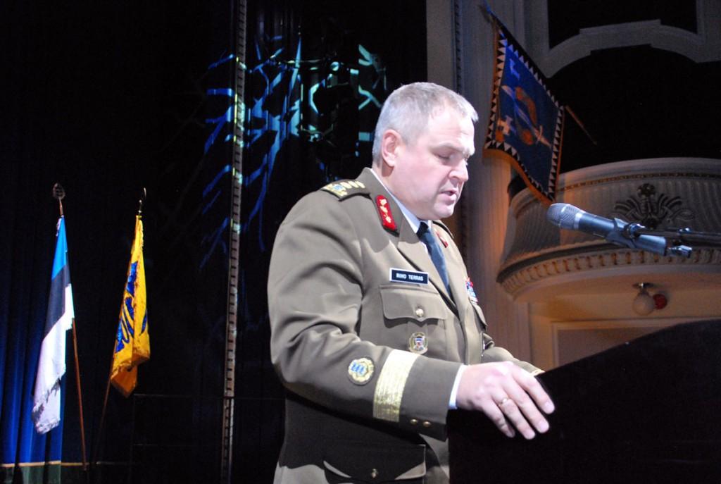 Vabadussõja mälestuskontsertil peab tähtpäeva kõne Kaitseväe juhataja kindralleitnant Riho Terras Foto Urmas Saard