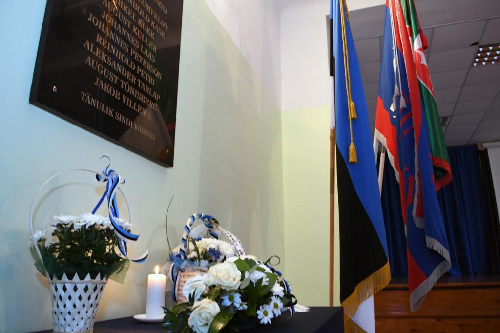 Vabadussõjas võidelnute mälestamine Sindi gümnaasiumis Foto Urmas Saard