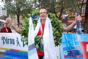 Valdis Ņilovs, 2014 aasta võidupüha maratoni võitja Foto Urmas Saard