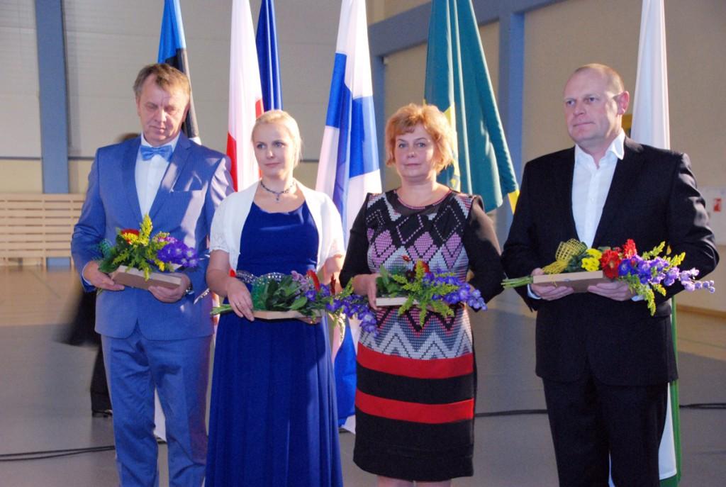 Vapimärgi saanud Mait Talvoja, Marika Valter, Monika Vaher, Tarmo Saarts Foto Urmas Saard