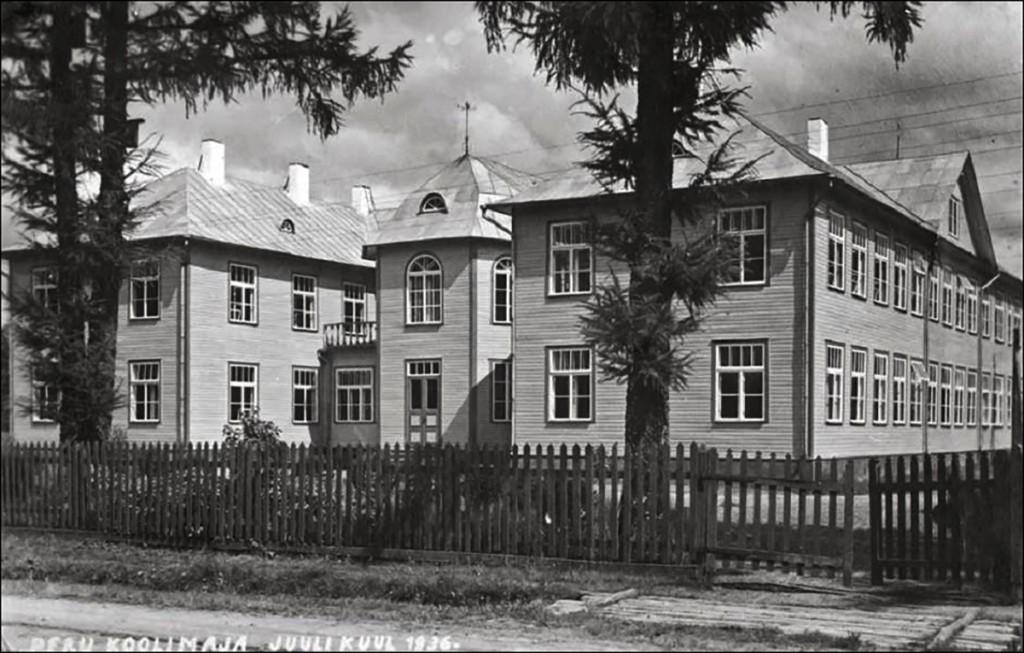 Vigala-Vanamõisa, Peru kool aastast 1936. Foto Märjamaa vald