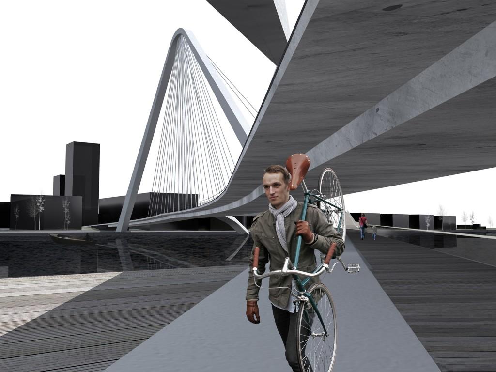 Visualiseering Pärnu kolmandast sillast, autor Britt Vaher
