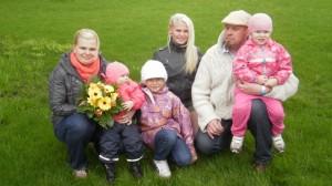 2012. aasta suurpereks valitud perekond Kivimäe-Laidro Pärnumaalt.