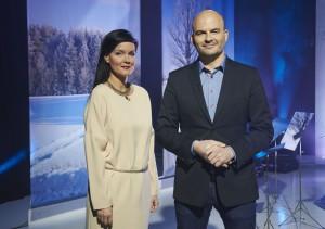 Saatejuhid Katrin Viirpalu ja Rasmus Kagge. Foto: Ülo Josing/ERR