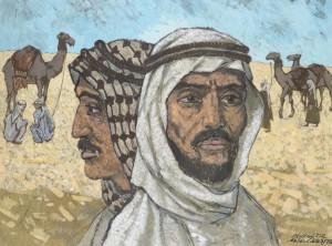 Endel Kõks [21. IV 1912 – 25. XI 1983] Beduiinid. Segatehnika, lõuend. 1972. Repro autor Stanislav Stepaško.