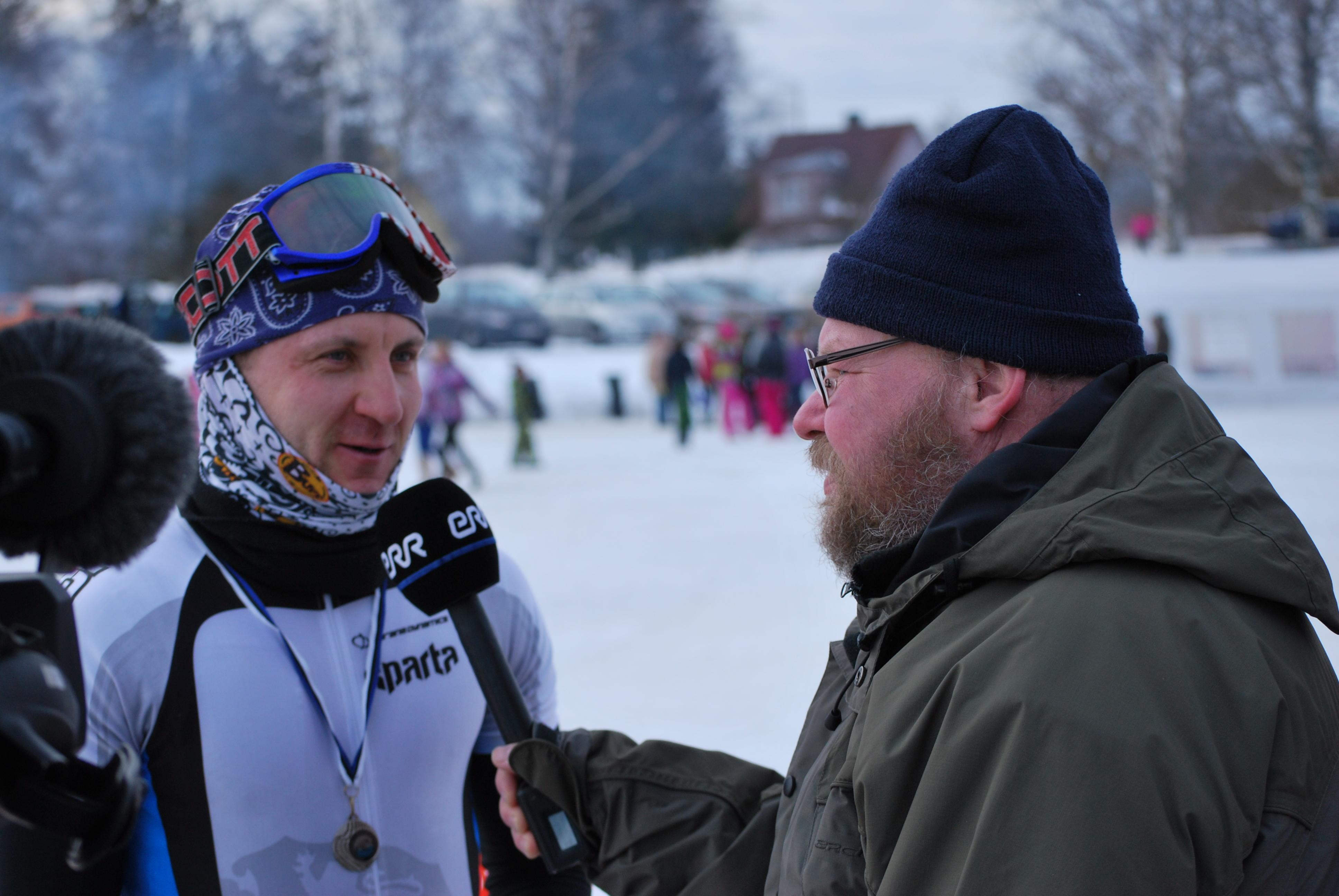 ldvõitja Kert Keskpaik intervjuud andmas