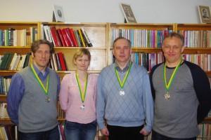 Meelis Lill, Kadri Steinbach, Kaido Mägi, Urmas Kuldmaa. Foto: Monika Otrokova