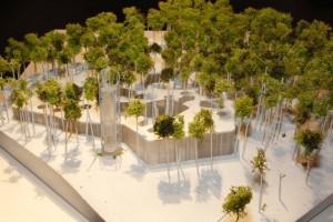 Arhitektuurikonkursi võitnud Arvo Pärdi keskuse makett.